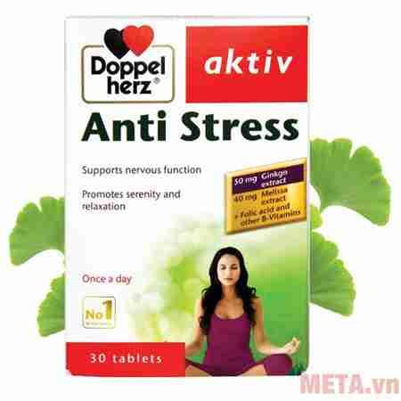 thuc pham chuc nang bo nao doppelherz aktiv anti stress 30 vien