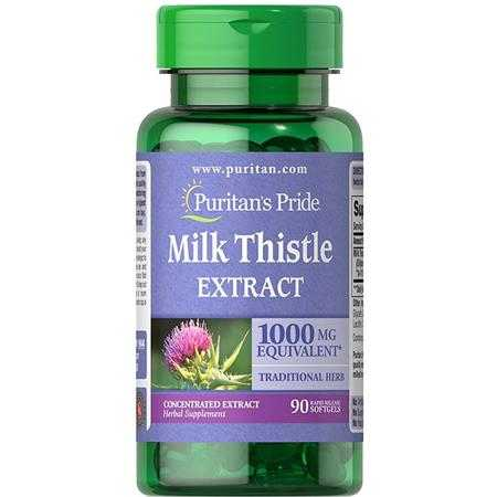 puritan s pride milk thistle 4 1 extract 1000mg silymarin 1944 a