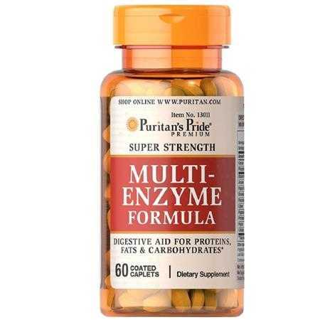 puritan s pride super strength multi enzyme 13011 a