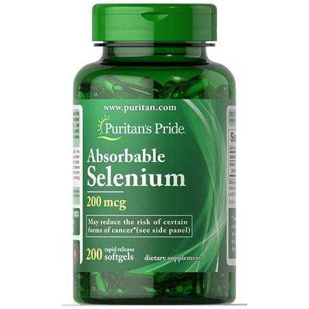 puritan s pride absorbable selenium 200 mcg 15930 a