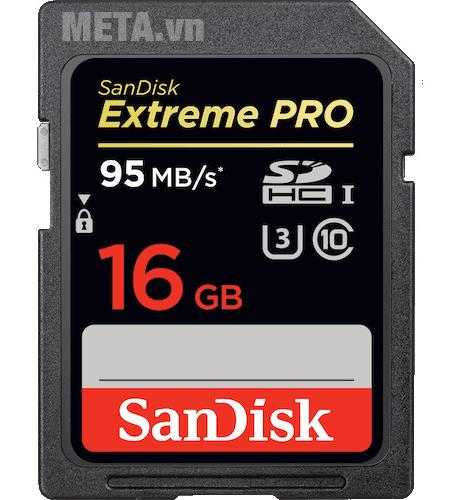 the nho may anh 16gb sandisk extreme pro sdhc
