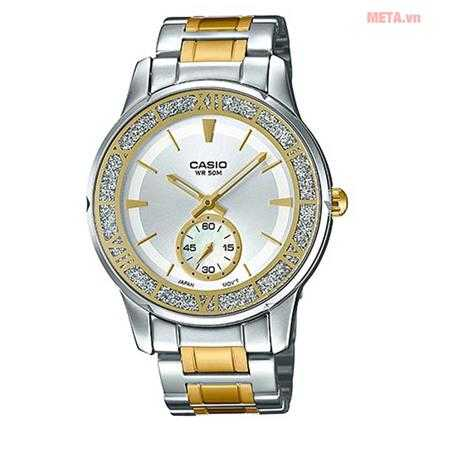 dong ho nu casio ltp e135sg 7avdf to