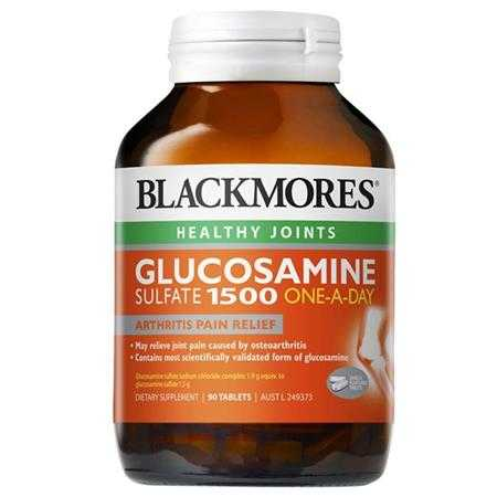 thuc pham chuc nang blackmores glucosamine sulfate 1500 one a day
