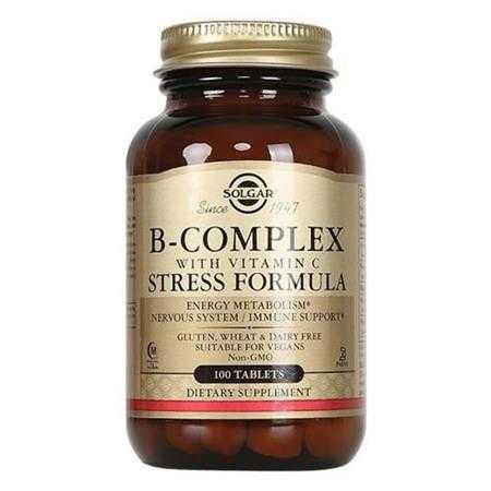thuc pham bao ve suc khoe b complex with vitamin c solgar 100 vien 1