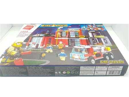 do choi lap ghep qman fire station tram cuu hoa fh2808 to