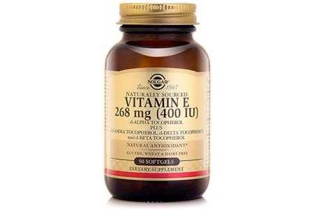 thuc pham bao ve suc khoe vitamin e 400 iu solgar 50 vien
