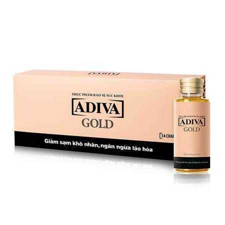 collagen adiva gold dang nuoc hop 14 lo x 30ml g