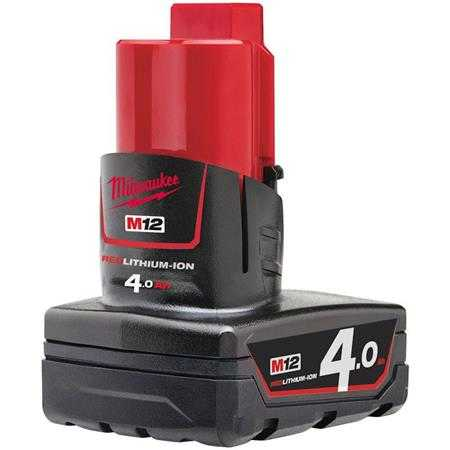 pin 12v 4 0ah milwaukee m12b4 1