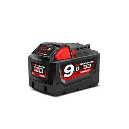 pin li ion 18v 9 0ah milwaukee m18b9 a