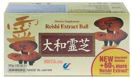thuc pham bao ve suc khoe vien hoan reishi extract ball linh chi nhat ban 2in1 1