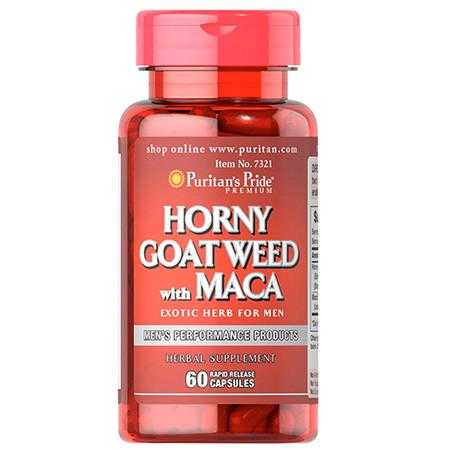 puritan s pride horny goat weed with maca 500 mg 75 mg 7321 g