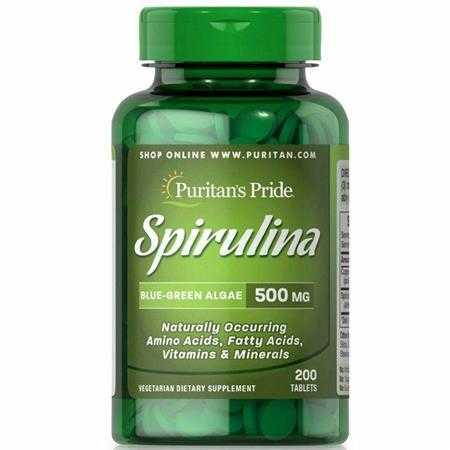 tao xoan puritan s pride spirulina 500 mg g
