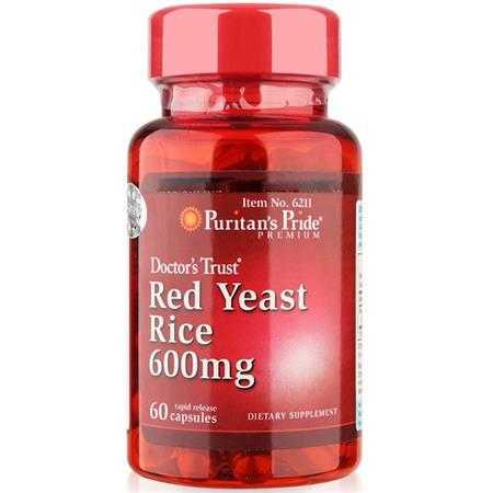 vien uong giam cholesterol tinh chat men gao do puritan s pride red yeast rice 6211 hop 60 vien 1