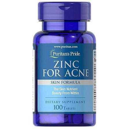 vien uong kem tri mun puritan s pride zinc for acne 2580 g