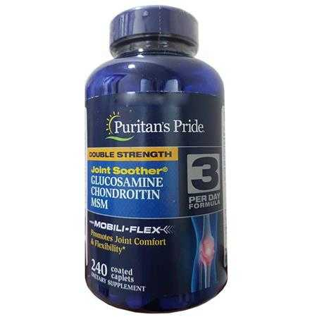 vien uong ho tro xuong khop puritan s pride double strength glucosamine chondroitin msm joint soother 27814 1