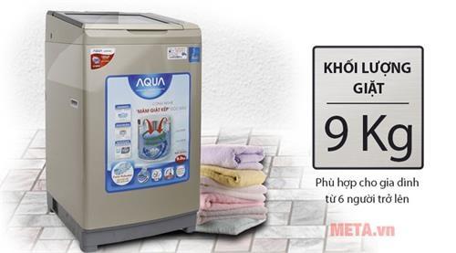 may giat long dung aqua inverter aqw dw90at 9kg sl3