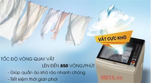 may giat long dung aqua inverter aqw dw90at 9kg sl9