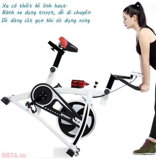 xe dap the duc spin bike dichuyen