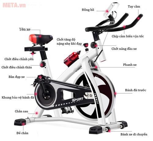 xe dap the duc spin bike thongso