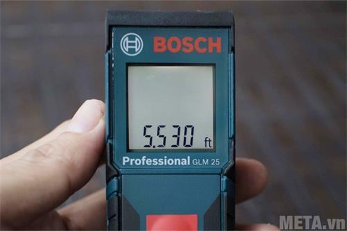 may do khoang cach bosch laser glm 25 tren