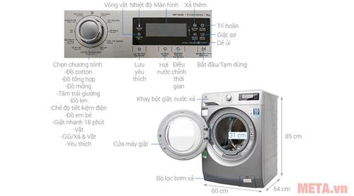 may giat 9kg cong nghe hoi nuoc electrolux ewf12938s anh1