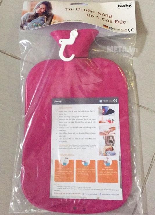 Túi chườm nóng lạnh Fashy 2 mặt màu hồng