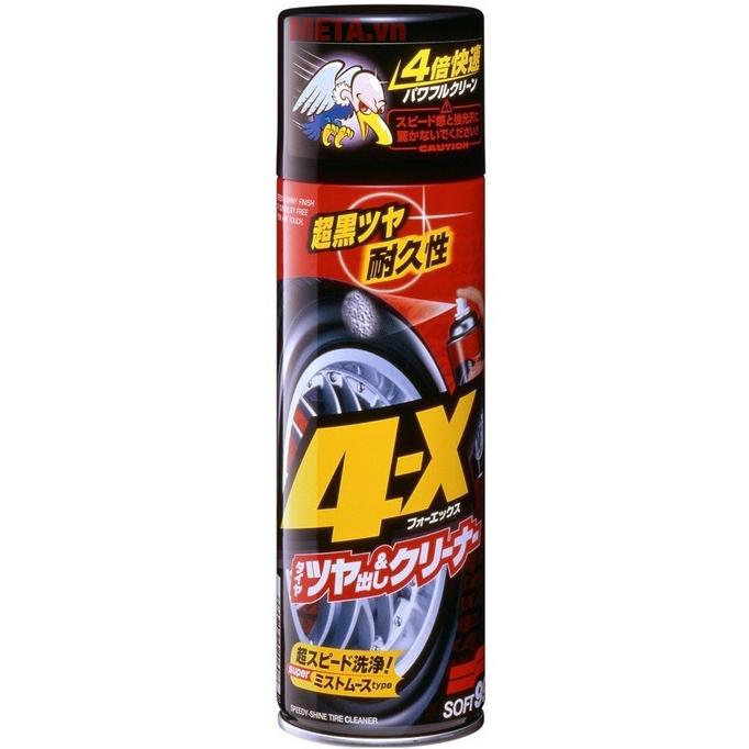 Chai xịt vệ sinh và tạo độ bóng cho lốp ô tô Soft99 4 - X Tire Cleaner