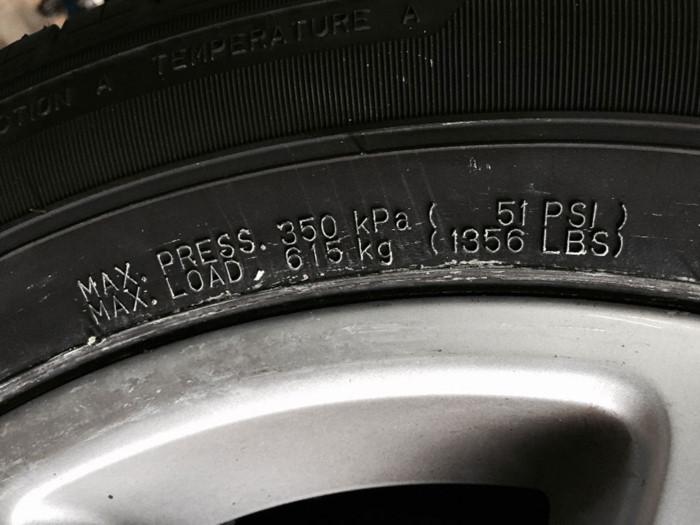 Thông số áp suất lốp nguội tiêu chuẩn cho xe ô tô