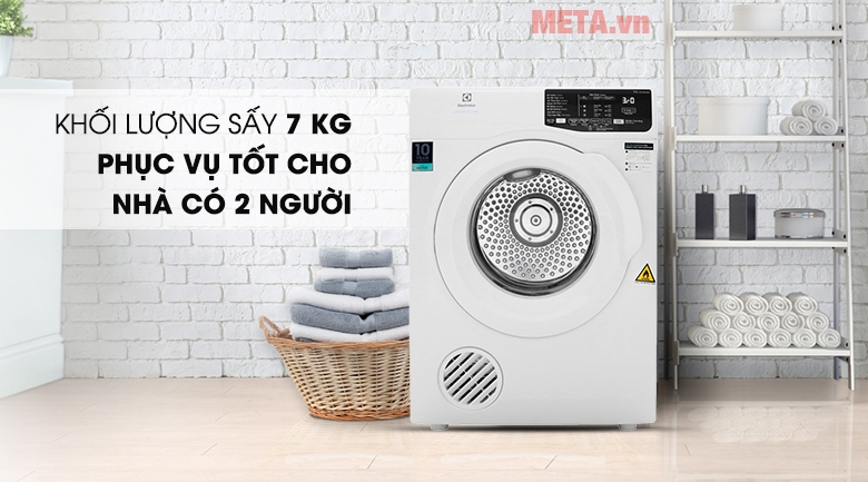 Máy sấy quần áo Electrolux EDV705HQWA 7kg model 2019