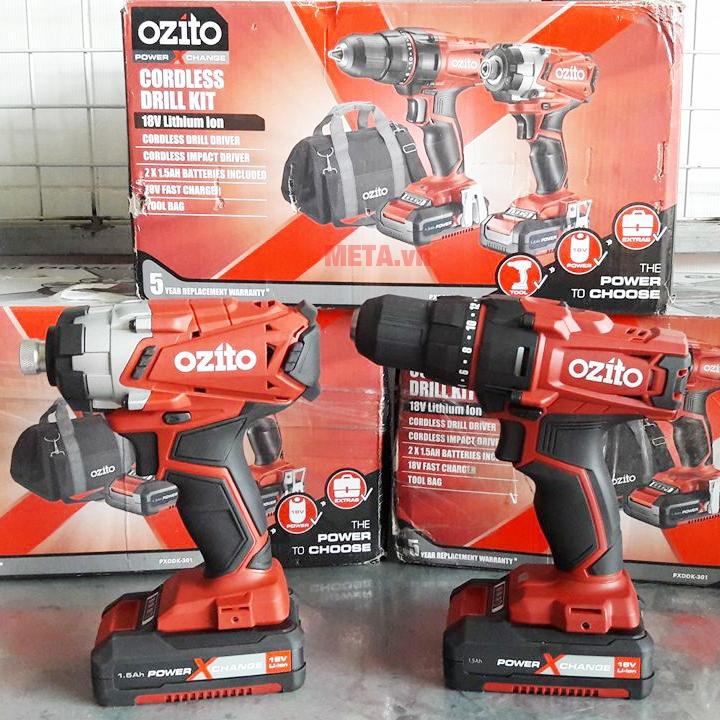 Bộ máy khoan pin Ozito PXDDK 301