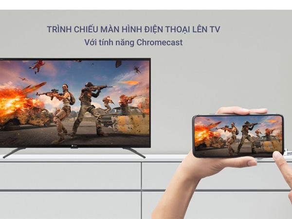 Tivi thông minh Casper 65UG6000 có thể trình chiếu màn hình điện thoại