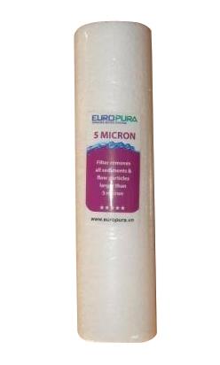Lõi lọc số 1 - Lõi PP 5 micro (dùng cho máy lọc nước Europura)