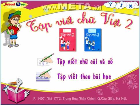 phần mềm tập viết chữ Việt 2