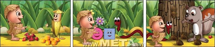 Đậu Lém gặp nhiều người bạn, mỗi người bạn đó chỉ cho Đậu Lém biết những kiến thức đầu tiên về Toán.