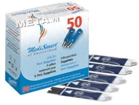 Que thử của máy đo đường huyết MediSmart Sapphire (hộp 50 que)