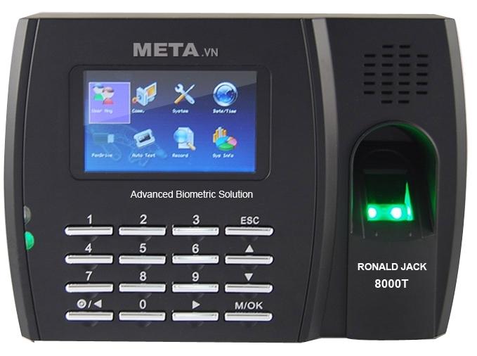 Máy chấm công vân tay, thẻ cảm ứng Ronald Jack 8000T
