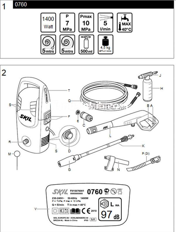Hướng dẫn sử dụng máy phun xịt rửa cao áp Skil 0760