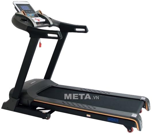 Máy chạy điện cao cấp MHT-1460 có băng tải rộng giúp chạy bộ thoải mái.