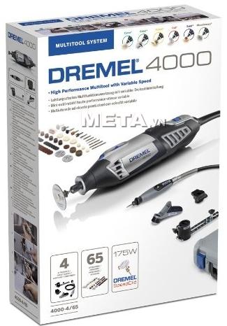 Hộp giấy bên ngoài của bộ dụng cụ đa năng Dremel 4000 4/65