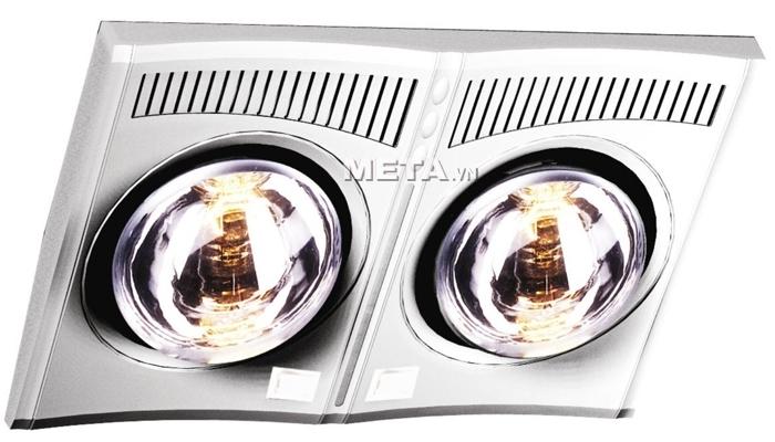 Đèn sưởi nhà tắm hồng ngoại Hans 2 bóng có giá khoảng 750.000 VNĐ