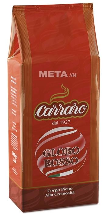 Cà phê hạt Carraro Globo Rosso 1000g