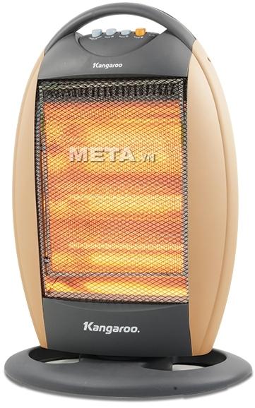 Đèn sưởi Kangaroo KG1011C thiết kế nhỏ gọn, có quai xách nên thuận tiện cho việc di chuyển