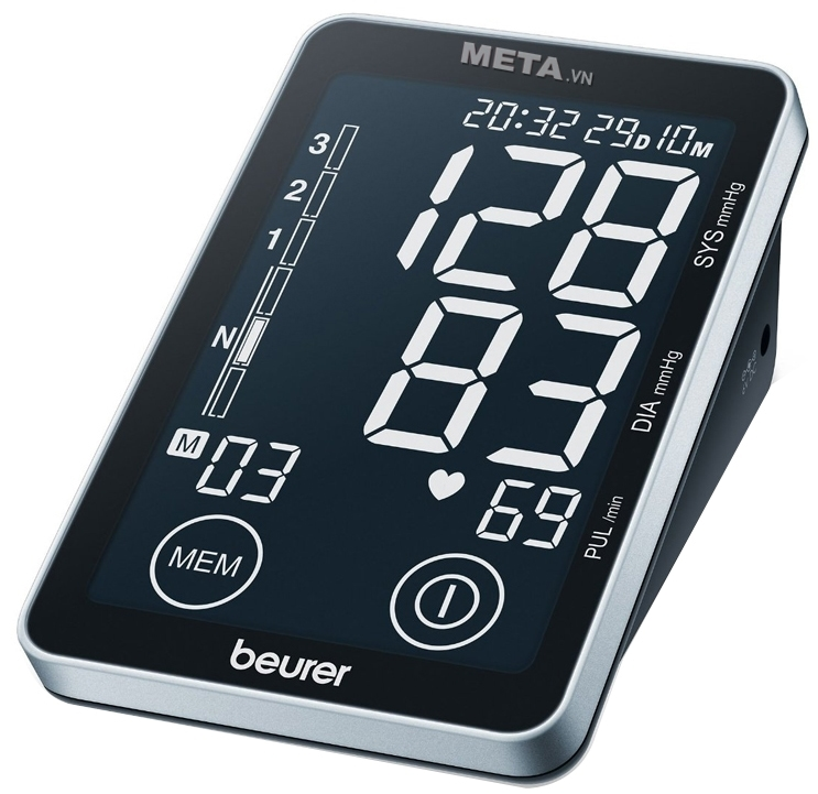 Máy đo huyết áp BM58 đo được chỉ số huyết áp, nhịp tim, phân loại huyết áp theo chuẩn WHO