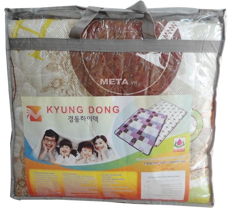 Chăn đệm điện cotton Kyungdong Hàn Quốc có túi đựng tiện lợi