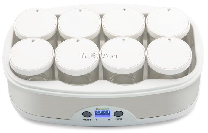 Máy làm sữa chua Kangaroo KG81 có 8 cốc thủy tinh