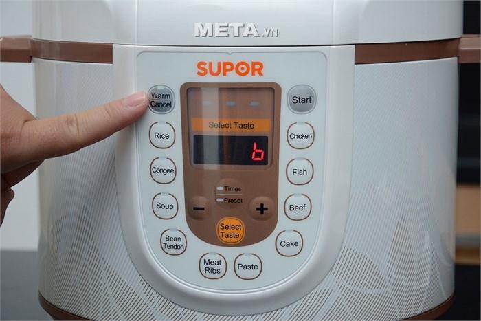 Nồi áp suất điện thường được cài đặt sẵn nhiều chế độ nấu tự động, rất dễ sử dụng