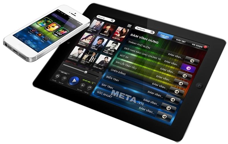Đầu máy Karaoke BTE 3TB hỗ trợ chọn bài bằng màn hình cảm ứng, chọn bài bằng Smart Phone.