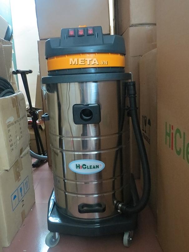 Máy hút bụi hút nước công nghiệp HiClean HC80 hoạt động mạnh mẽ với 3 motor