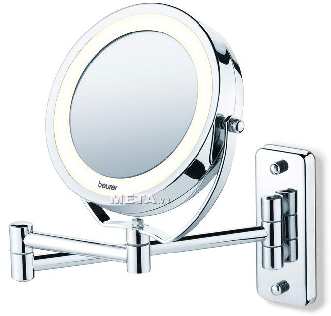 Gương trang điểm 2 mặt Beurer BS59 có đèn giúp trang điểm ngay cả nơi thiếu ánh sáng