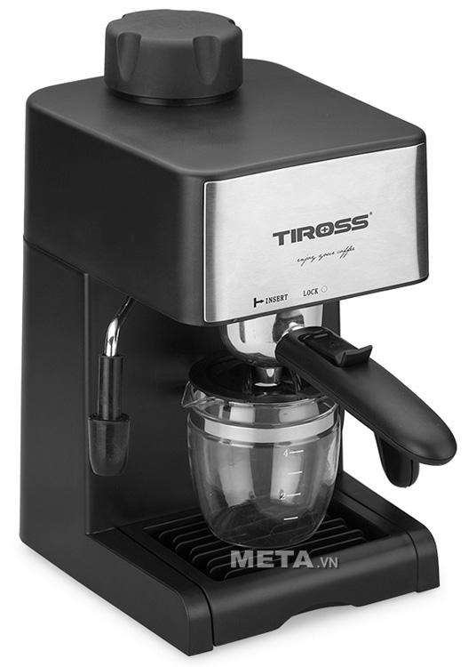 Cốc thủy tinh sử dụng trong máy pha cà phê Tiross.